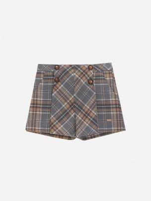 Grey/Camel Check Shorts