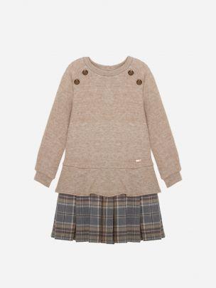 Bege Knit Dress