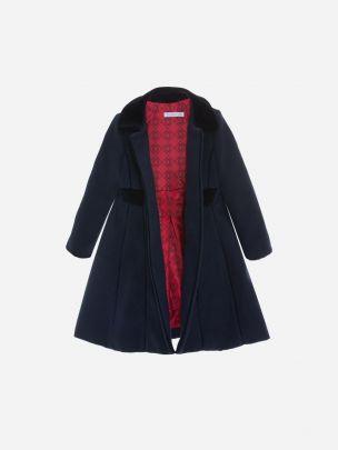 Navy Flannel Coat