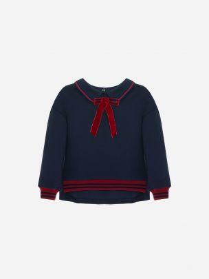 Navy Interlock Sweater