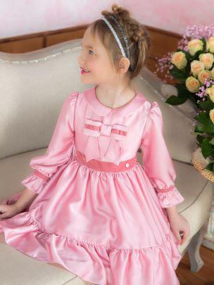 Dark Pink Georgette Dress