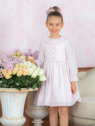 Pale Pink Chiffon Dress