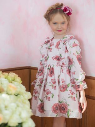 Doble Poppy Chiffon Dress