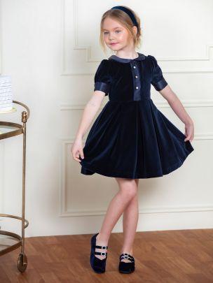 Navy Velvet Dress