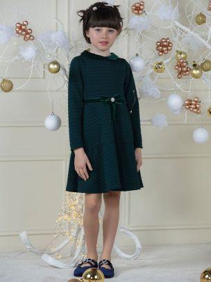 Dark Green Knit Dress