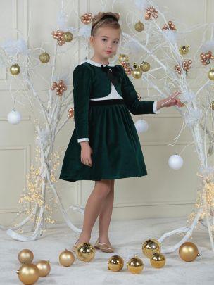 Green Velvet Dress