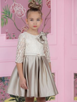 Bege Lace Haute Couture Dress