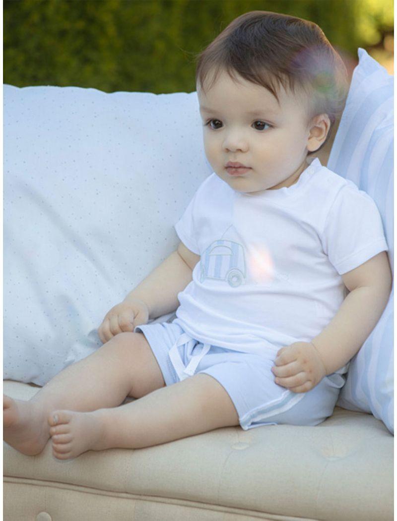 Cotton Fleece Blue Shorts