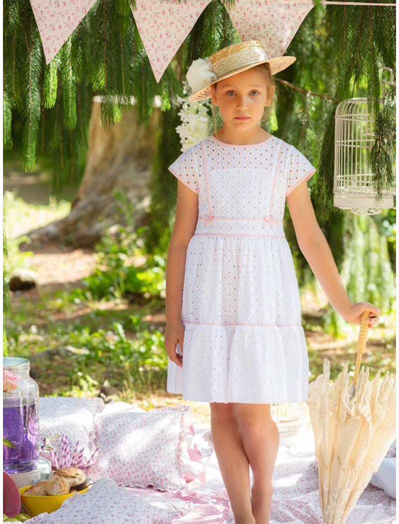 Cotton Embroidery White Dress