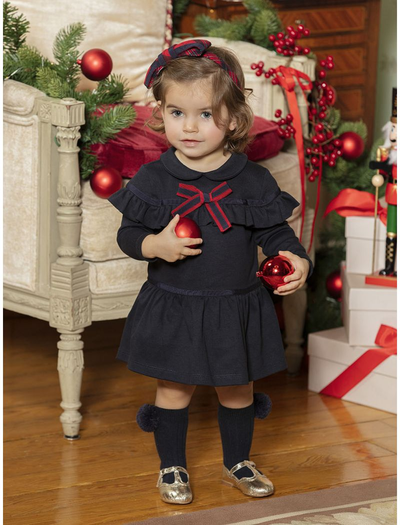 NAVY INTERLOCK DRESS