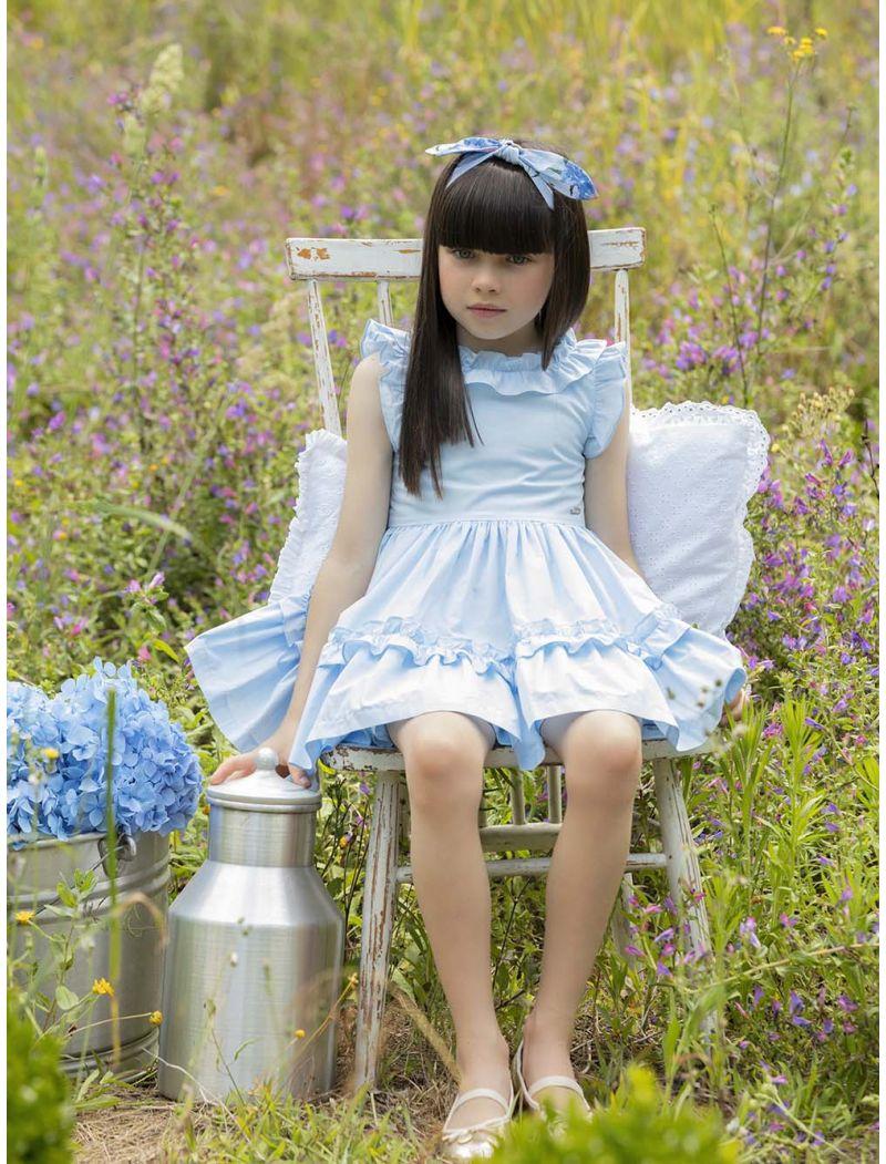 Blue Popeline Dress