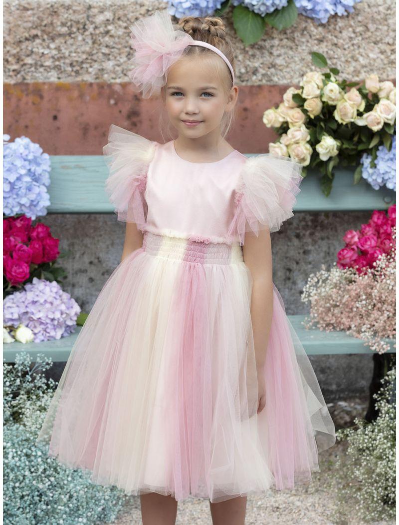 Multicolor Tulle Dress