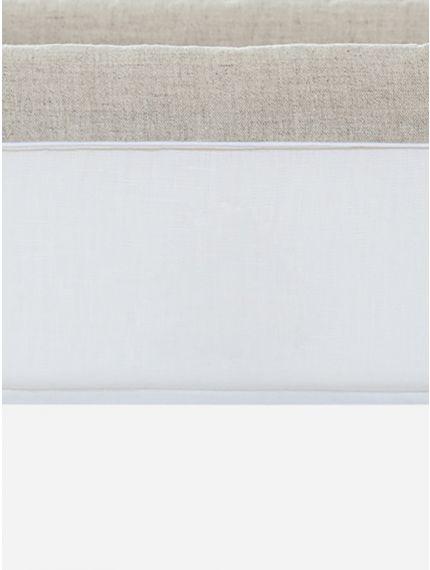 Bege/White Linen Basket