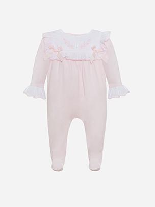 Pink Jersey Babygrow