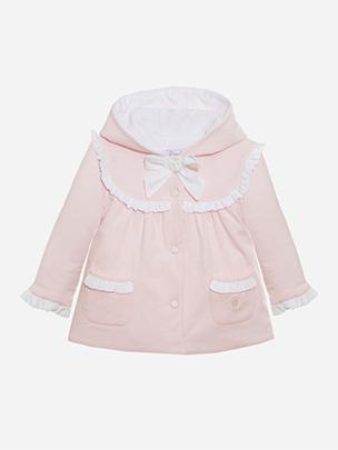 Pink Jersey Coat