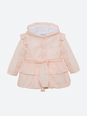 Pale Pink Microfibre Coat
