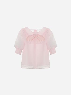 Pale Pink Chiffon Blouse