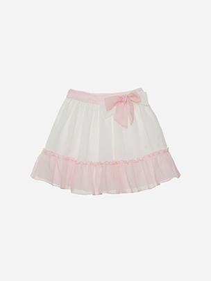 Off White Chiffon Skirt