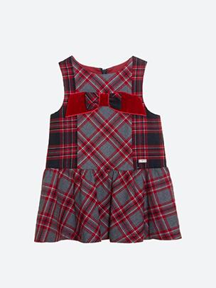 Navy Check Flannel Dress